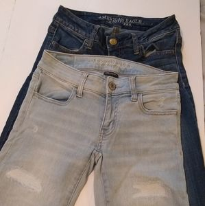 American Eagle  2 Pair of Jeggings Size 0